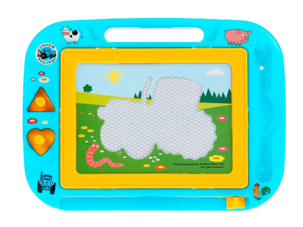 magnetic board blue tractor